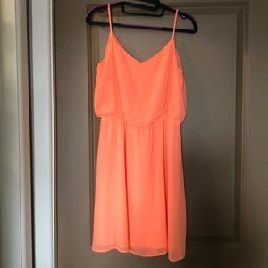 Gianni Bini pastel orange dress